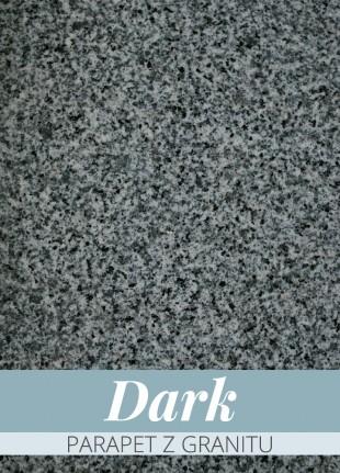 Parapet z granitu Dark 122 x 30 x 2 cm